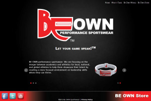 Minneapolis Website for Sportswear Company BE OWN