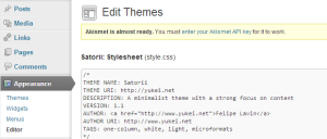 Editing the CSS on your WordPress.org website