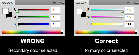 Eyedropper changes secondary color swatch photoshop solution bjd the color palette in photoshop cs5 showing the proper configuration for the eyedropper to pick the ccuart Images