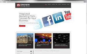 Website for Magnetik Marketing Solutions