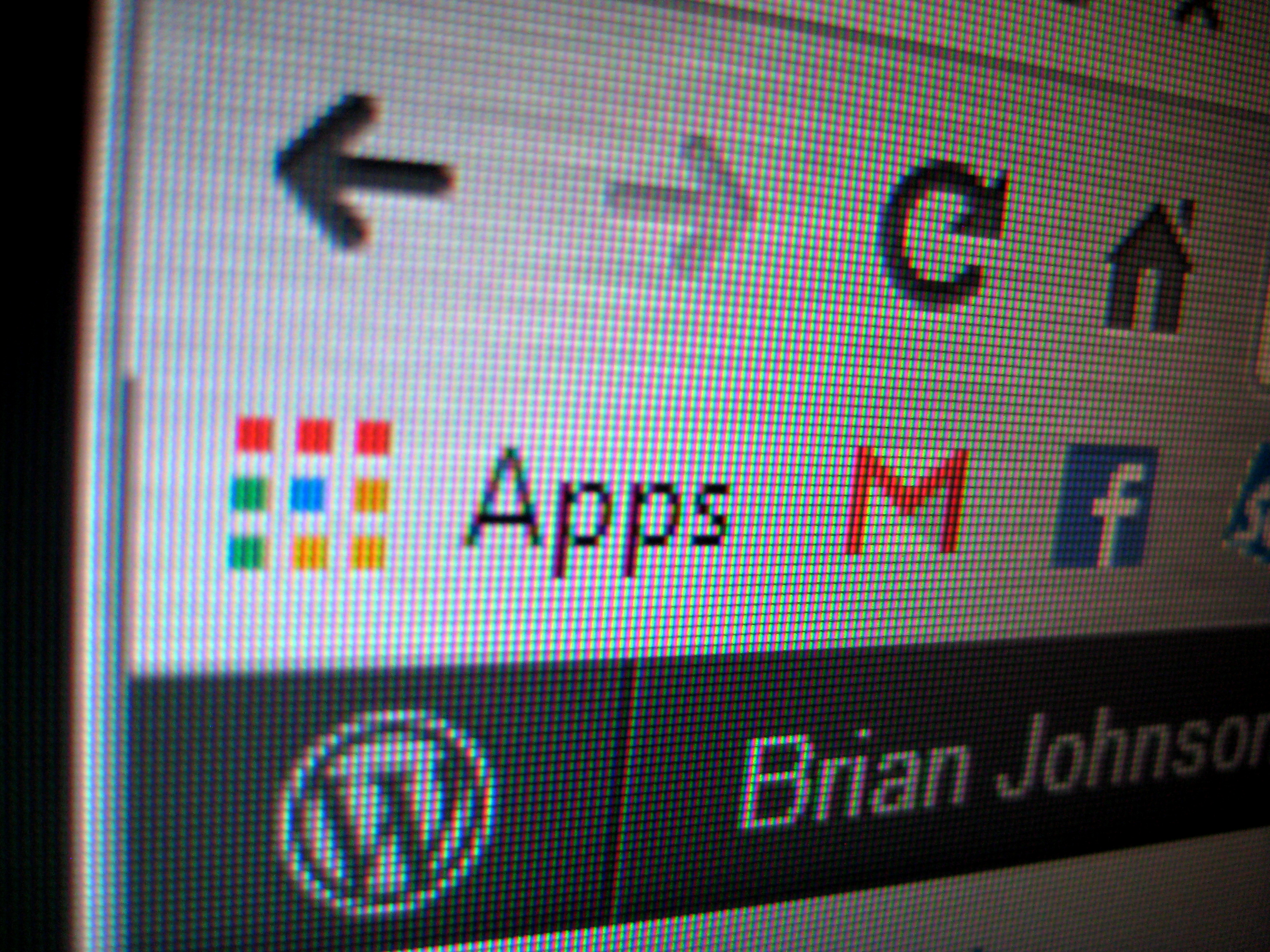 The Apps Icon in action, chrome browser