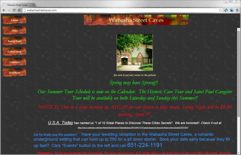 Wabasha Street Caves Website