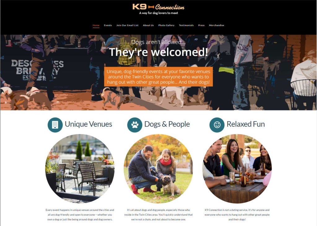 k9 Connection WordPress Site