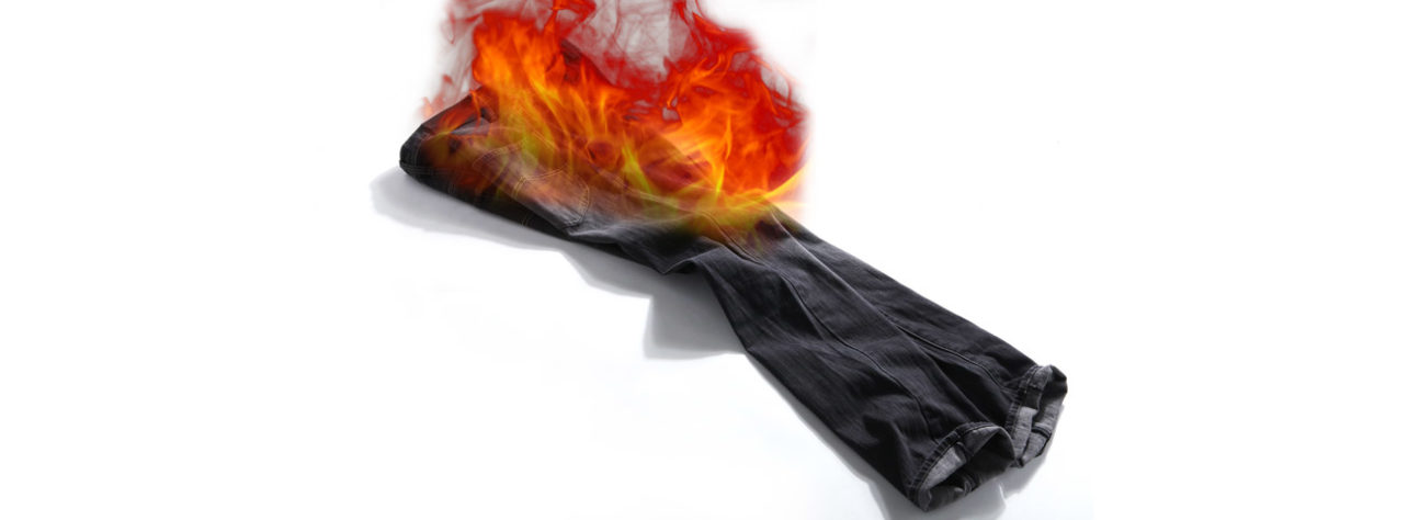 Pants Literally on Fire