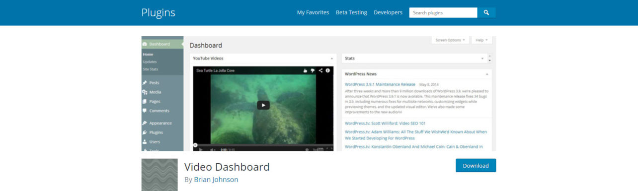 Video Dashboard plugin in the WordPress Repository - Now with Vimeo Support